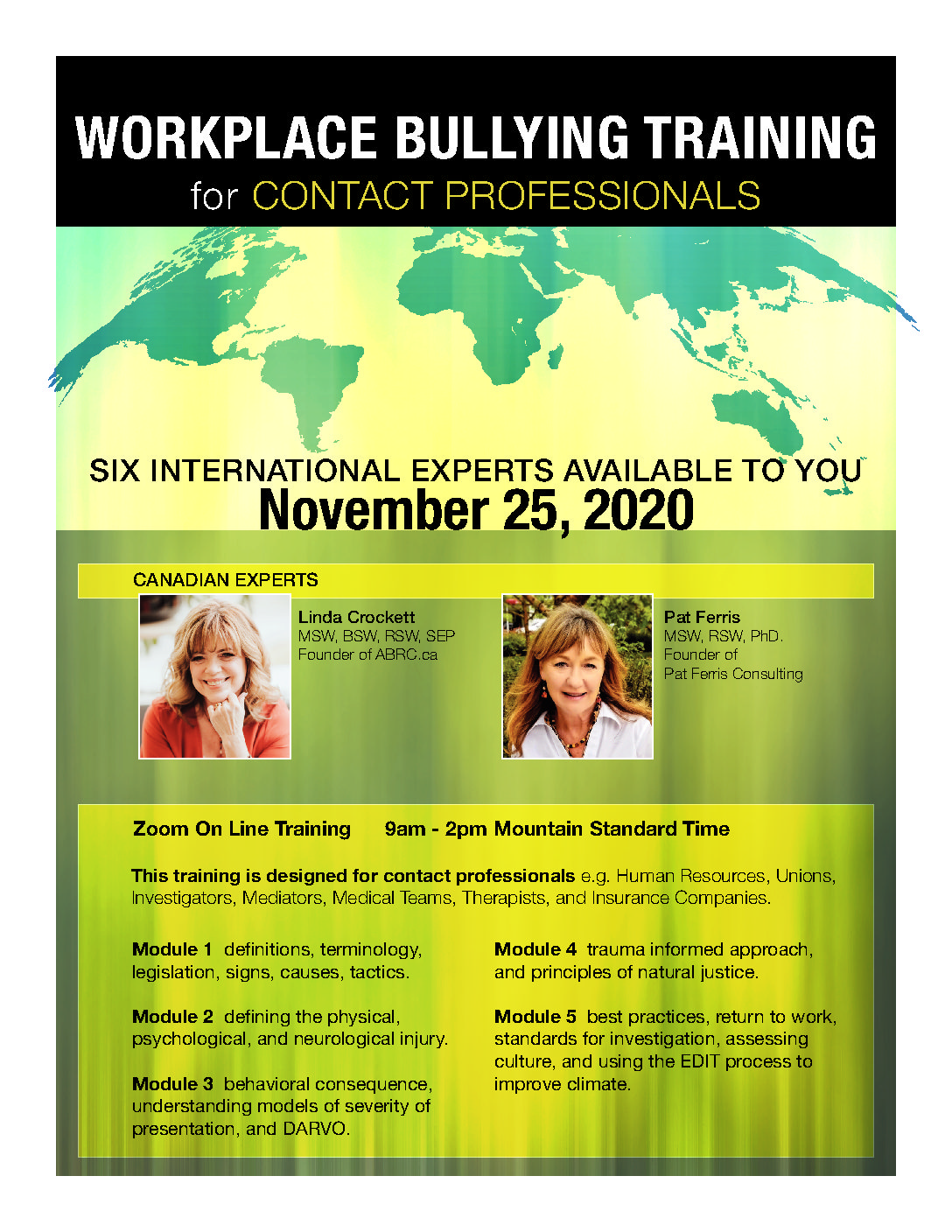 Workplace Bullying Training for Contact Professionals